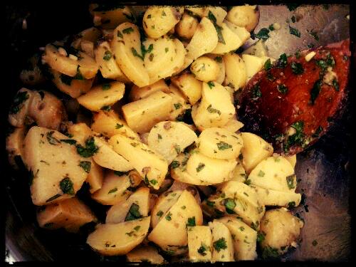 grøn kartoffelsalat